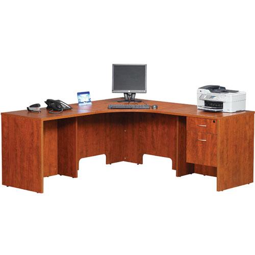 Corner Desk w Hanging Pedestal