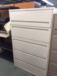 Used Five Drawer Lateral Filing Cabinet