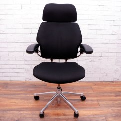 Freedom Task Chair With Headrest Hanging Chairs Clear Plastic Humanscale Chrome Frame