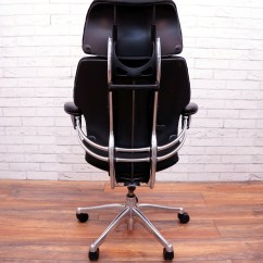 Freedom Task Chair With Headrest Mid Century Modern Lounge Chairs Humanscale Chrome Frame