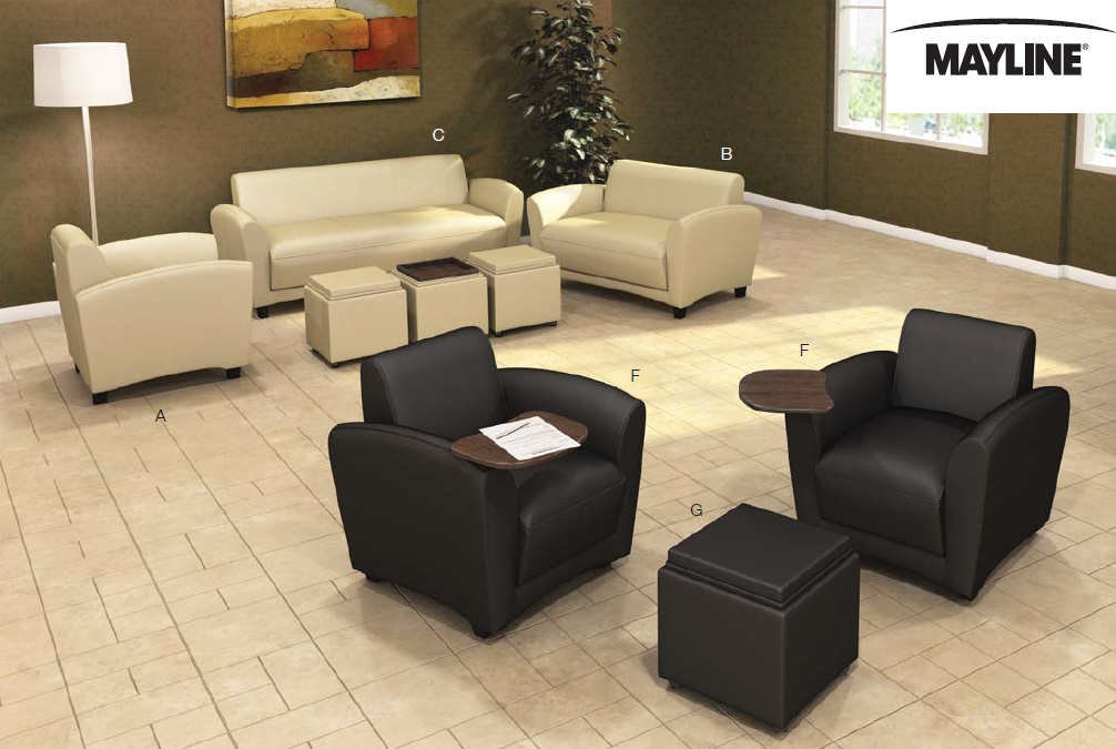 swivel chair quotes garden rocking covers mayline santa cruz series lounge furniture and mobile | office resource group