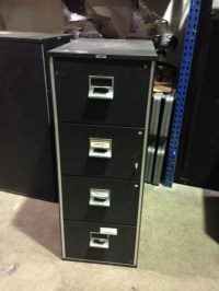 Victor 4 Drawer Vertical Fireproof File Cabinet 20 1/2 x ...