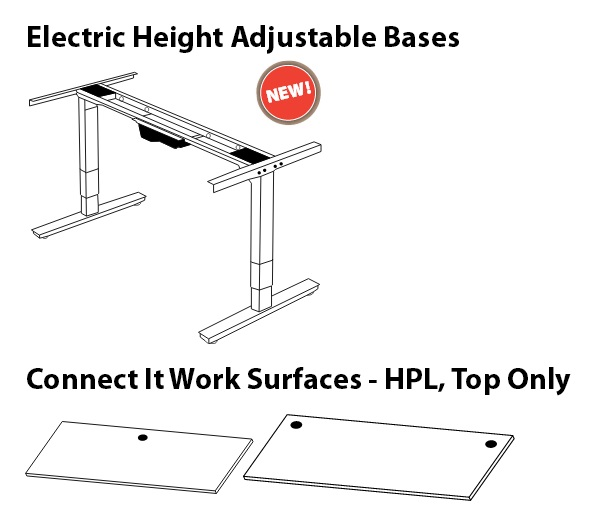 OFD CIEL3Base 36x72 Electric Height Adjustable Sit Stand