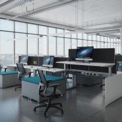 Ergonomic Chair Miller Mid Century Modern Cane Barrel Chairs Ais Aloft Height Adjustable Benching Workstations | Office Resource Group