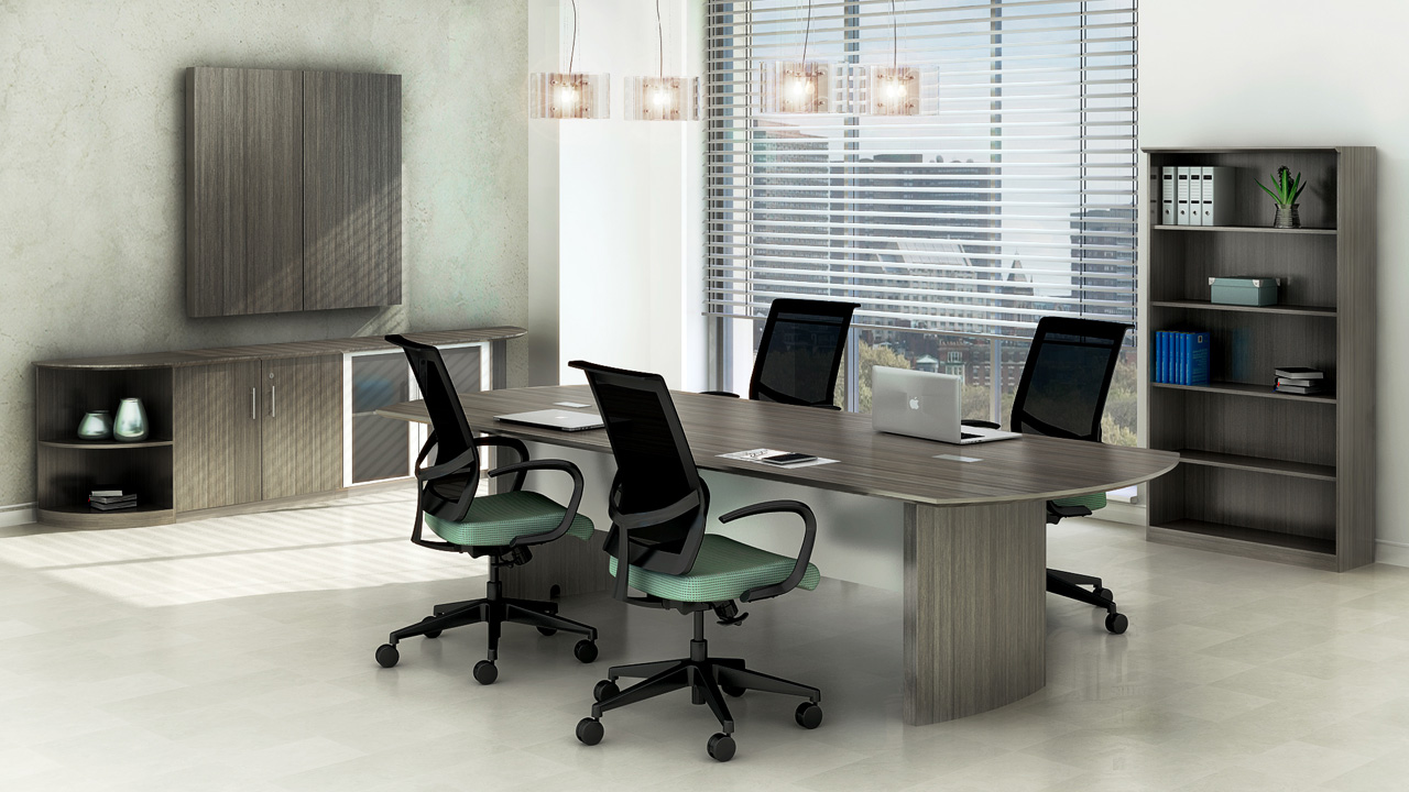 Mayline Medina Gray Steel Laminate 10ft Conference Table