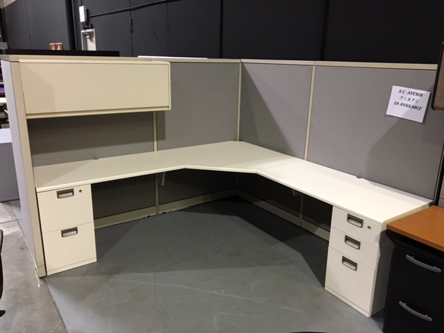 Steelcase Avenir 7 12x 7 12 Cubicle Workstation with 2