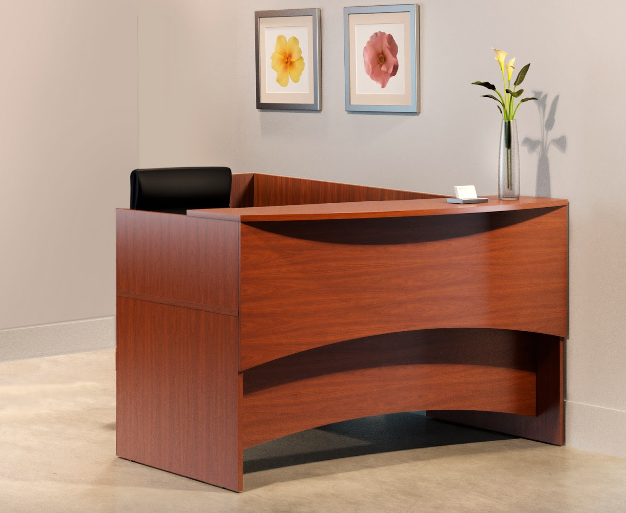 hooker desk chair ergonomic store san jose mayline brighton l shape reception with storage- 2 colors available- new!   office resource ...