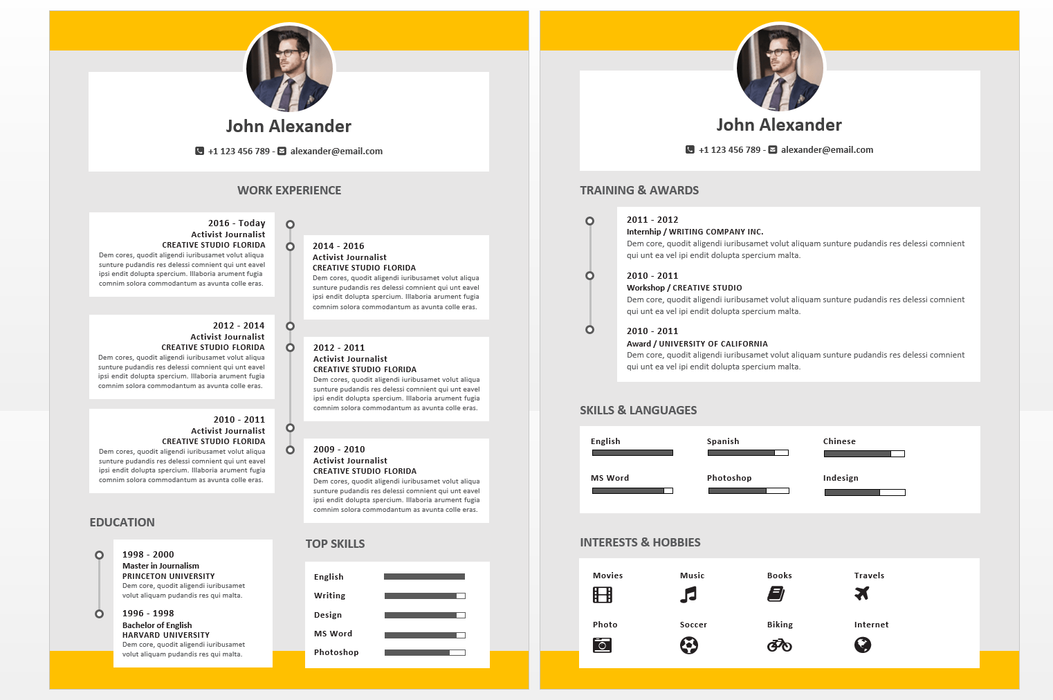 Red Modern Resume Reference Page Template. 50 Eye Catching Cv Templates