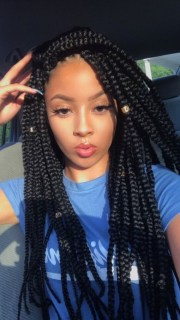 unique box braids hairstyles