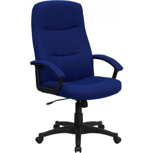 Flash Furniture High Back Navy Blue Fabric Executive
