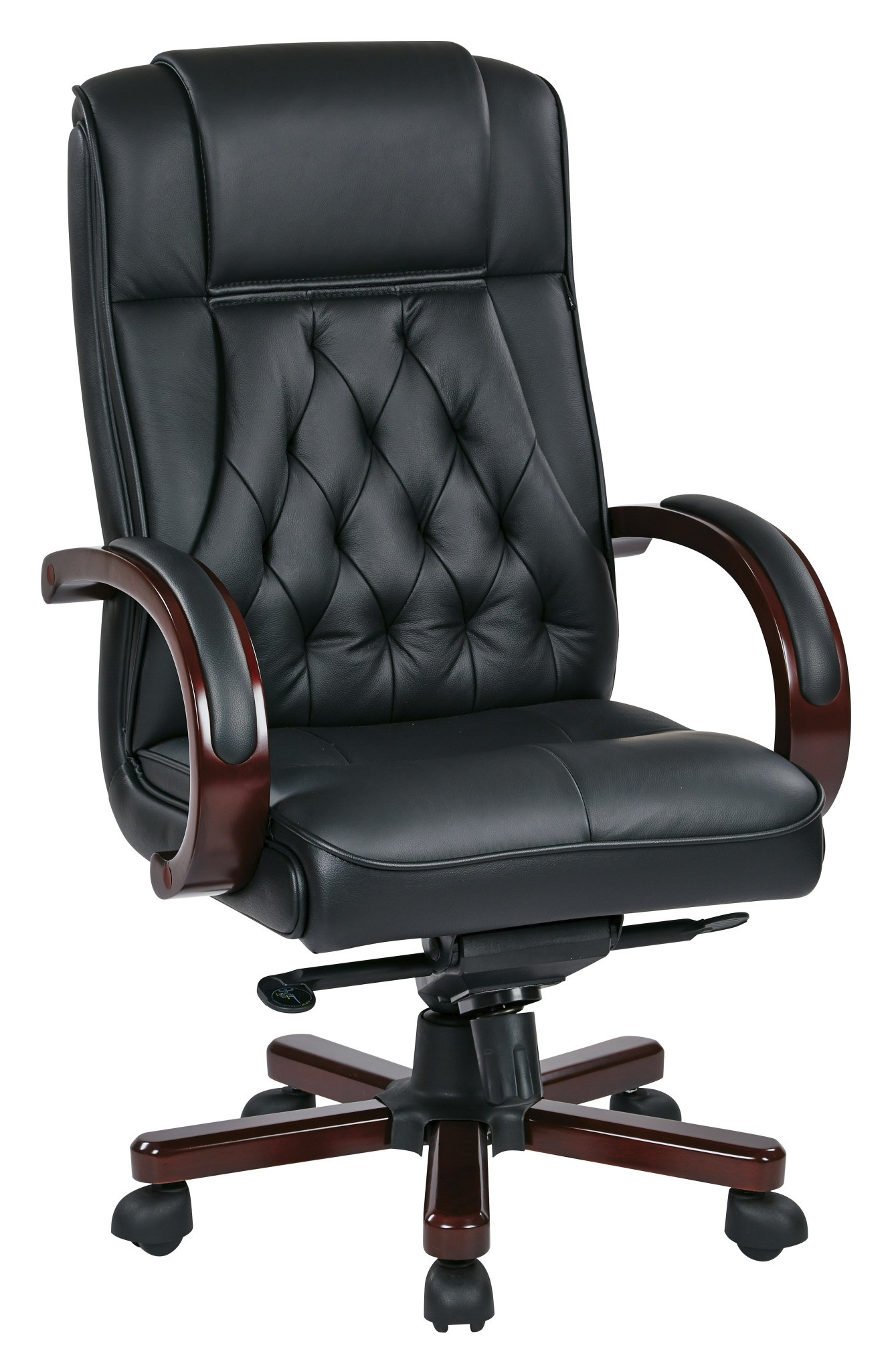 Office Star TWN300L3 Leather Executive Chair with Royal