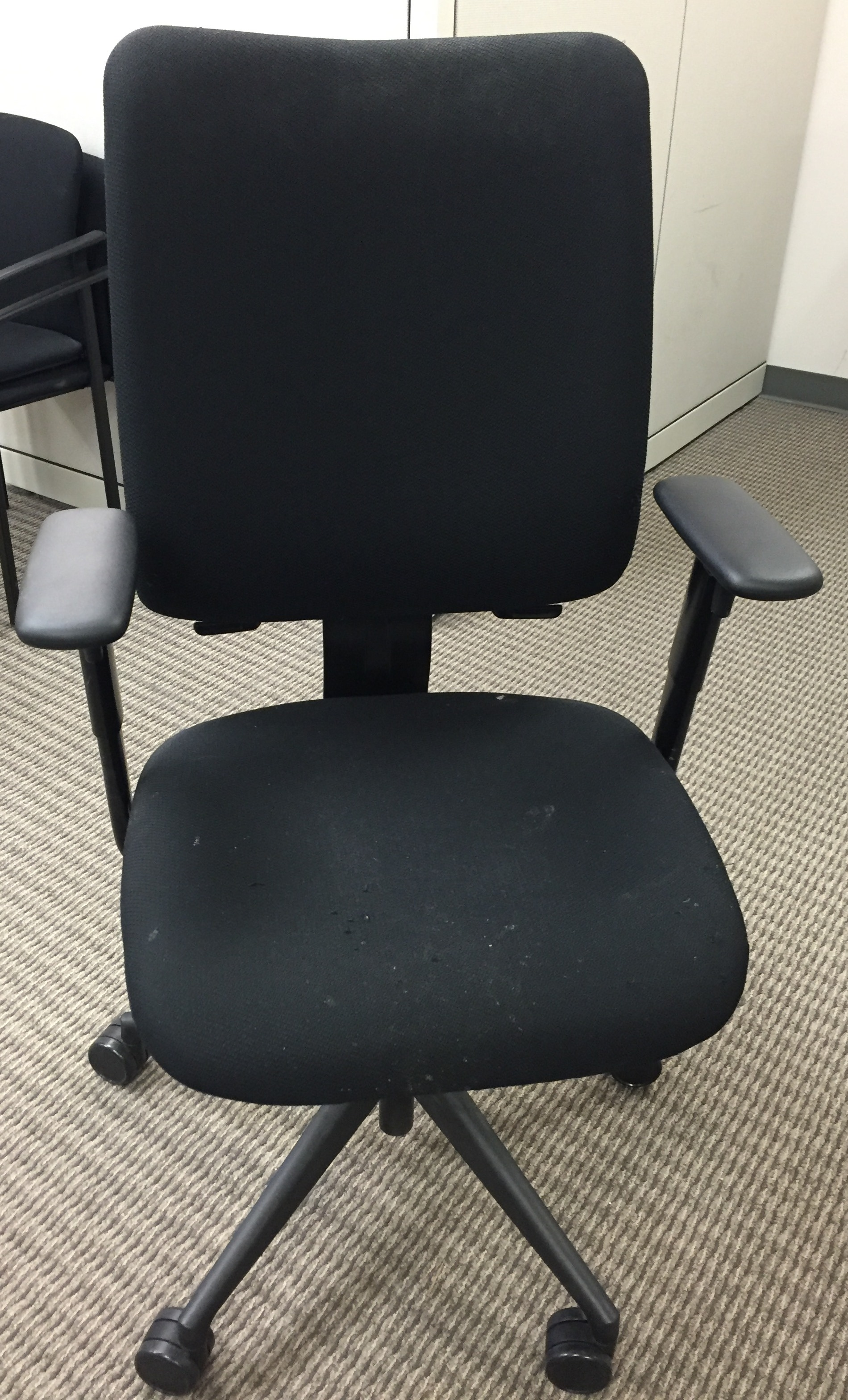 steelcase reply chair review grey fabric dining chairs uk used turnstone task