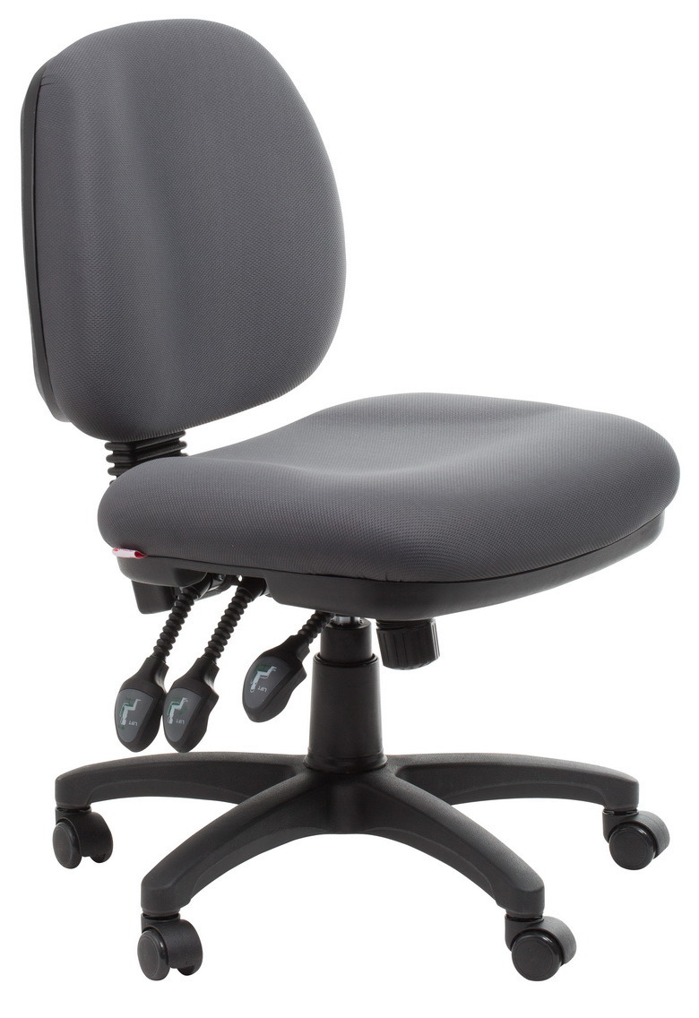 Melbourne Ergonomic Commercial Fabric Office Chair  Grey