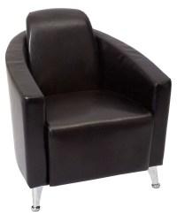 Pluto Black Single Seat Lounge Chair | Office Stock