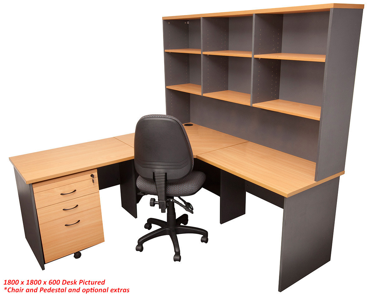 ergonomic visitor chair chairs for sporting events express corner workstation desk with hutch | office stock