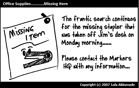 Missing Item – Stapler |Office Supplies