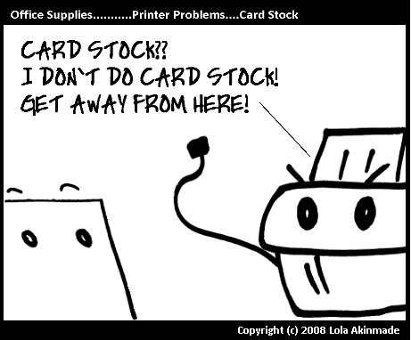 Printer Problems – Card Stock |Office Supplies