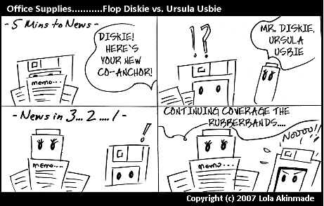 Flop Diskie vs Ursula Usbie |Office Supplies