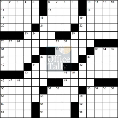 The Office Crossword Puzzle Contest • OfficeTally