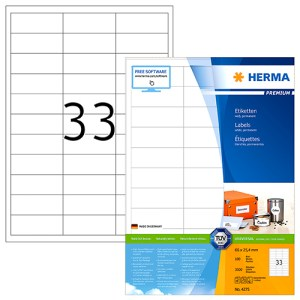 Printable Self Adhesive Labels 33 Per Page