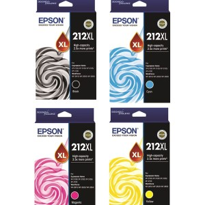 Epson 212XL Black and Colour Cartridges Inks Value Pack