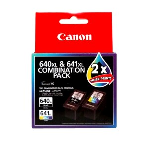 Canon PG 640XL + CL 641XL Twin pack Genuine Ink Cartridges