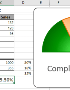 The gauge chart in excel also creating  rh officetooltips
