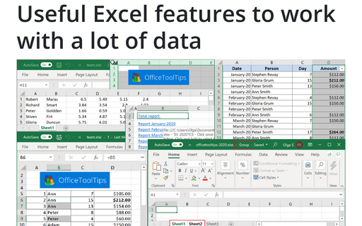Navigation in Excel Tips