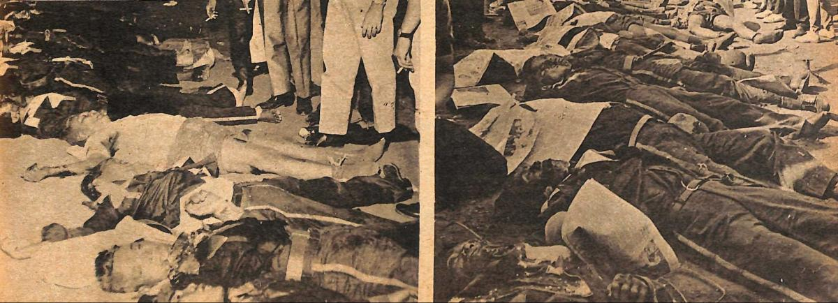 Thirty-two Lapiang Malaya members were killed, as against one PC soldier. Photo from the Philippines Free Press Magazine.