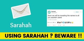 sarahah app steal data