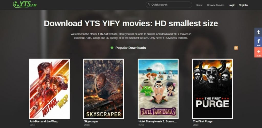 yts torrent search engine - Top 12 Best Torrent Search Engine Websites in 2021