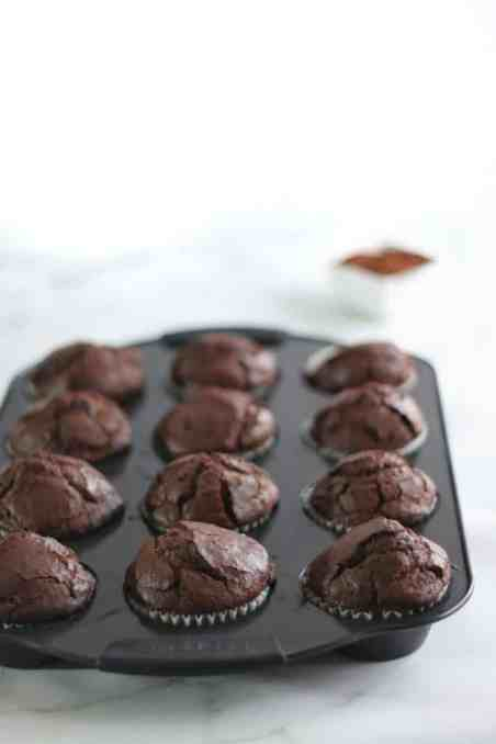 Gluten Free Double Chocolate Muffins