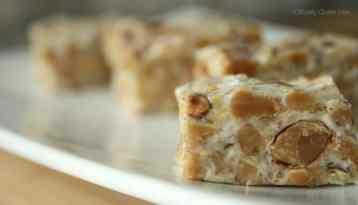 No Bake Almond Toffee Squares