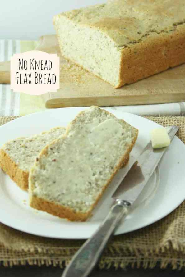 No Knead Flax Bread Officially Gluten Free