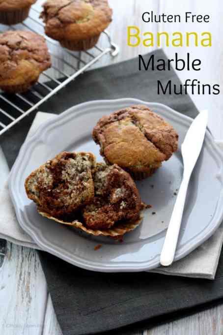Gluten Free Banana Marble Muffins