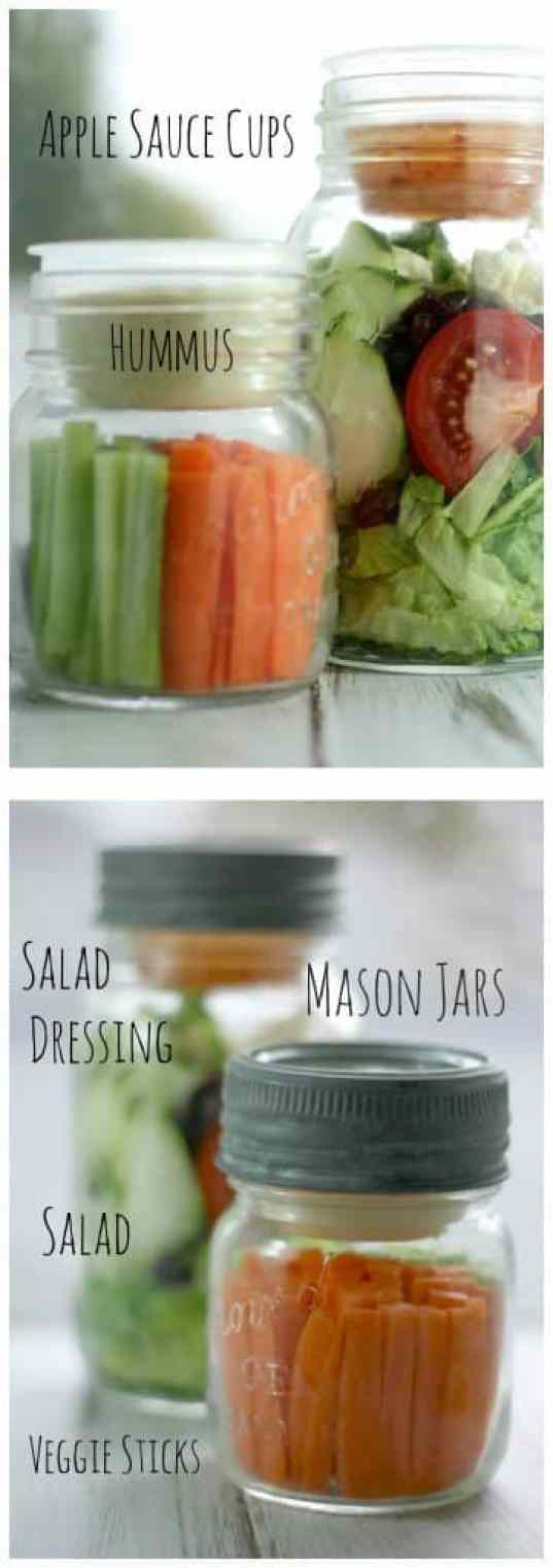 Jar Salad Hummus