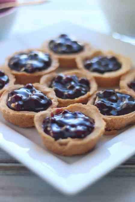 Gluten Free Blueberry Cheesecake Tarts
