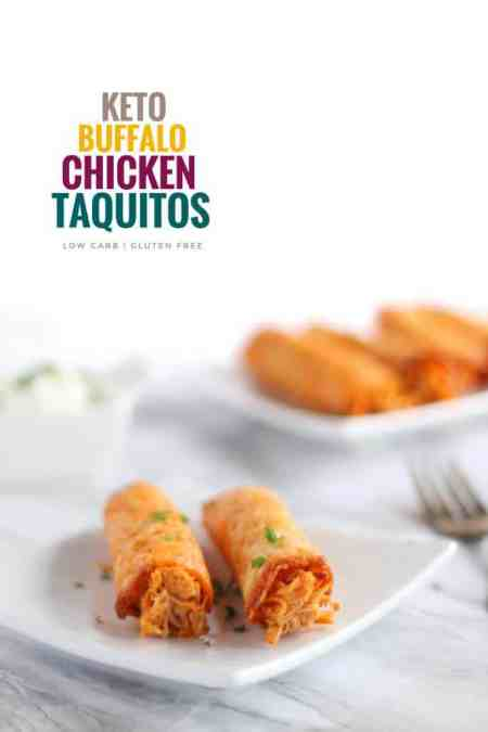 Keto Buffalo Chicken Taquitos