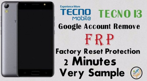 Tecno i3 Frp Unlock Google Account Lock Remove Done Using Sp tools