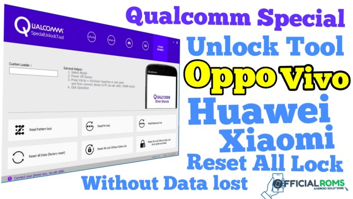 Qualcomm Special Unlock Tool v4.0 Reset All Lock Without Data Loss