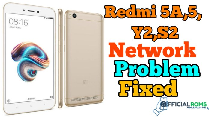 Redmi 5A, 5, S2 Network Problem Flashable FIX File