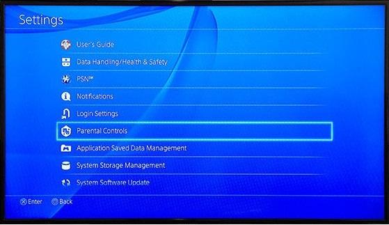 Parental Control on PS4
