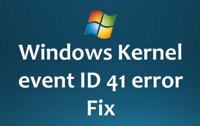 event ID 41 error