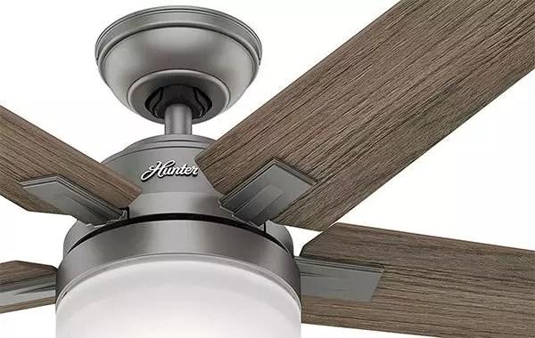 Hunter Contemporary Matte Silver Indoor Ceiling Fan