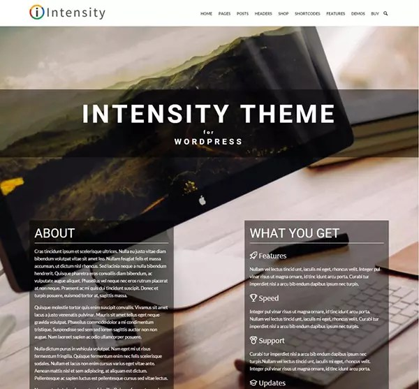 Intensity by ThemeForest