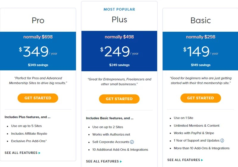MemberPress - Pricing
