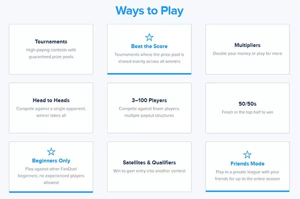 Different Ways to Play