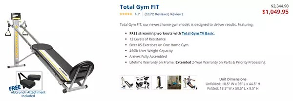 Total Gym FIT