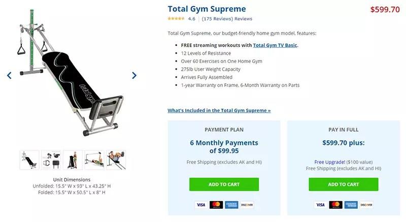 Total Gym Supreme