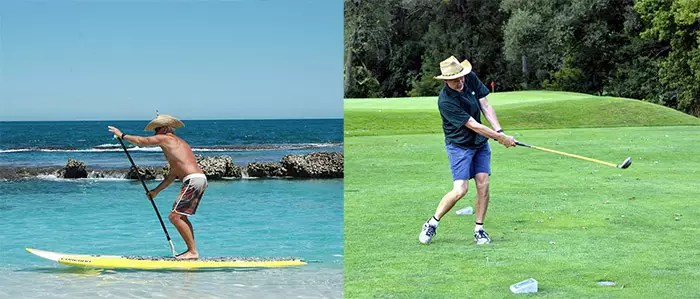 Paddle Boarding and Golf